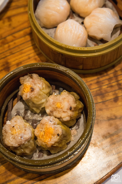 Beef and shrimp Dim Sum is photographed at Great Mall Mayflower Restaurant in Milpitas, California, on September 11, 2014. (Stan Olszewski/SOSKIphoto)
