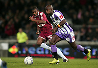 Fotball<br /> Frankrike<br /> Foto: Dppi/Digitalsport<br /> NORWAY ONLY<br /> <br /> FOOTBALL - FRENCH CHAMPIONSHIP 2007/2008 - L1 - TOULOUSE FC v FC METZ - 04/11/2007 - ACHILLE EMANA (TFC) / FLAVIEN BELSON (METZ)
