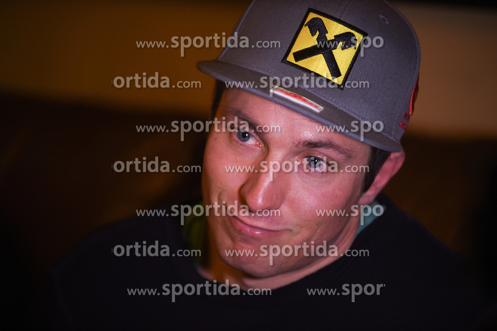 02.12.2015, The Charter, Beaver Creek, USA, FIS Weltcup Ski Alpin, Beaver Creek, ÖSV Pressekonferenz, im Bild Marcel Hirscher (AUT) // Austrian's Skiracer Marcel Hirscher during a  press conference of Austrian Ski Association OeSV prior to the mens downhill of the Beaver Creek FIS Ski Alpine World Cup at the Birds of Prey Course in Beaver Creek, USA on 2015/12/02. EXPA Pictures © 2015, PhotoCredit: EXPA/ Erich Spiess