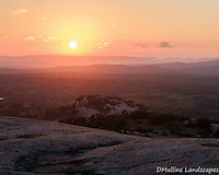 Sunrise viewed from the top of Enchanted rock.<br /> <br /> Available Sizes: 8x10, 12x15, 16x20