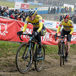 2020-01-01 Cycling: dvv verzekeringen trofee: Baal: Teammates Bethanie Crumpton and Kim van de  Steene