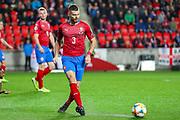 Czech Republic defender Ondrej Celustka (3) during the UEFA European 2020 Qualifier match between Czech Republic and England at Sinobo Stadium, Prague, Czech Republic on 11 October 2019.
