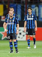 Milano, 05/04/2011<br /> Champions League/Inter-Schalke 04<br /> Gol Schalke 04: la delusione di Sneijder