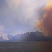Wildfire in Grand Teton National Park
