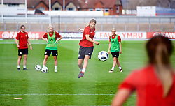 NEWPORT, WALES - Thursday, August 30, 2018: Wales' Peyton Vincze during a training session at Rodney Parade ahead of the final FIFA Women's World Cup 2019 Qualifying Round Group 1 match against England. (Pic by David Rawcliffe/Propaganda)