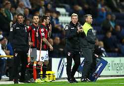 Bournemouth Manager, Eddie Howe shouts to his players - Mandatory byline: Matt McNulty/JMP - 07966386802 - 22/09/2015 - FOOTBALL - Deepdale Stadium -Preston,England - Preston North End v Bournemouth - Capital One Cup - Third Round