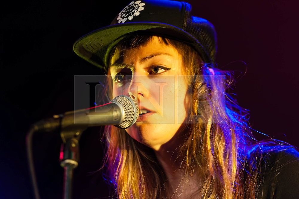 © Licensed to London News Pictures. 05/04/2014. Rotterdam, Netherlands.   Angel Olsen performing live at Motel Mozaique Festival.  Angel Olsen is an American folk and indie rock singer and guitarist.  Motel Mozaïque is an annual music/arts festival, held annually in Rotterdam, Netherlands.  Photo credit : Richard Isaac/LNP