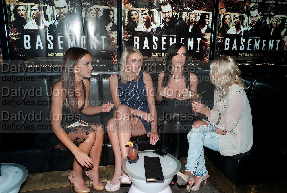 ROSA JONES; STACEY MASSEY; EMMA GLOVER; CHARLOTTE JACKS, Basement, film premiere May Fair Hotel, Stratton Street, London W1, 6.30pm; aftershow: Diu, 12-13 Greek Street, London W1 17 August 2010. -DO NOT ARCHIVE-© Copyright Photograph by Dafydd Jones. 248 Clapham Rd. London SW9 0PZ. Tel 0207 820 0771. www.dafjones.com.