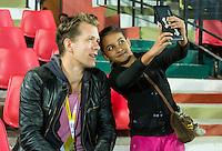 LUCKNOW (India) -  Jeroen Mansier van Hockey.nl   voor de oefenwedstrijd tegen Korea voor de Junior  World Cup hockey men . COPYRIGHT KOEN SUYK