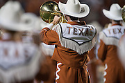 AUSTIN, TX - NOVEMBER 7:  Texas Longhorns marching band takes the field before kickoff against the Kansas Jayhawks on November 7, 2015 at Darrell K Royal-Texas Memorial Stadium in Austin, Texas.  (Photo by Cooper Neill/Getty Images) *** Local Caption ***