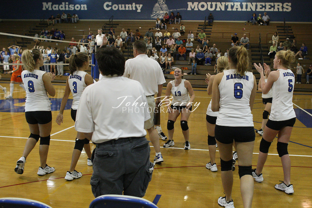 MCHS Varsity Volleyball .vs Clarke.10/17/2007..