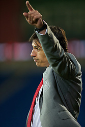16.11.2013, Cardiff City Stadium, Cardiff, WAL, Fussball Testspiel, Wales vs Finnland, im Bild Wales' manager Chris Coleman against Finland // during the international friendly match between Wales and Finland at the Cardiff City Stadium in Cardiff, Great Britain on 2013/11/17. EXPA Pictures © 2013, PhotoCredit: EXPA/ Propagandaphoto/ David Rawcliffe<br /> <br /> *****ATTENTION - OUT of ENG, GBR*****