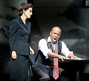 Charlie Parker's Yardbird<br /> by Daniel Schnyder <br /> librettist Bridgette A. Wimberly <br /> English National Opera <br /> at Hackney Empire, London, Great Britain <br /> 7th June 2017 <br /> <br /> <br /> Lawrence Brownlee as Charlie Parker <br /> <br /> <br /> Elena Perroni as Doris Parker <br /> <br /> <br /> <br /> <br /> <br /> <br />  <br /> Photograph by Elliott Franks <br /> Image licensed to Elliott Franks Photography Services