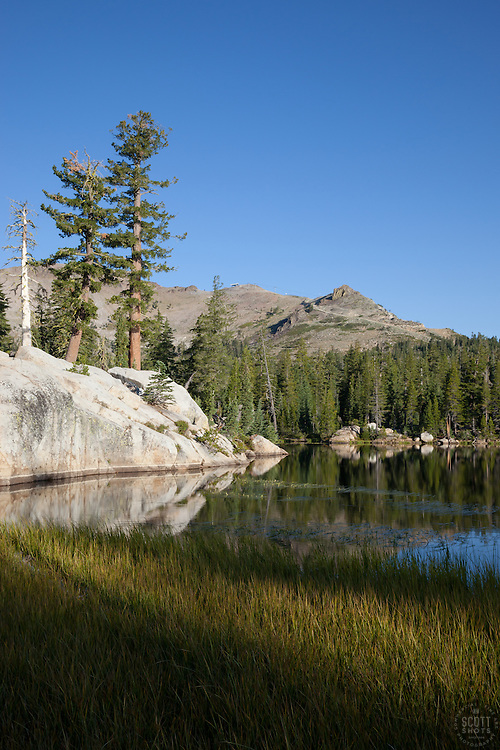 """Five Lakes 9"" - Early morning photograph of one of the Five Lakes in the Tahoe area."