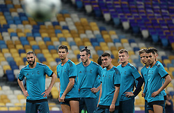 May 25, 2018 - Kiev, Ukraine - Real Madrid's players during a training session at the Olympic Stadium in Kiev. Ukraine, Friday, May 25, 2018 Tomorrow will be the final match of the Champions League between Real Madrid and Liverpool at the Olympic Stadium in Kiev. (Credit Image: © Danil Shamkin/NurPhoto via ZUMA Press)
