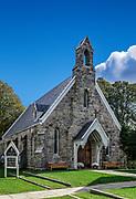 Charming Calvery Church, Stonington, Connecticut, USA.