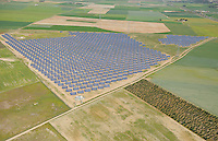 Aerial image<br /> solar energy power station Salamanca Region, Castilla y Le&oacute;n, Spain