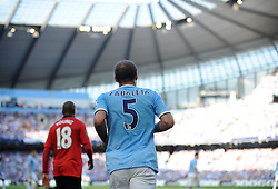 Manchester City's Pablo Zabaleta - Photo mandatory by-line: Dougie Allward/JMP - Tel: Mobile: 07966 386802 22/09/2013 - SPORT - FOOTBALL - City of Manchester Stadium - Manchester - Manchester City V Manchester United - Barclays Premier League