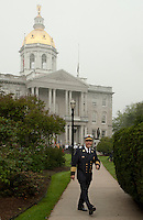 10 Year Observance of September 11, 2001 ceremony at the New Hampshire State House in Concord.  (Karen Bobotas/for the Concord Monitor)