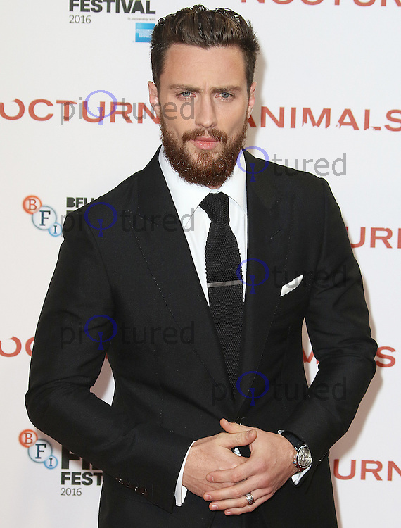 Aaron Taylor-Johnson, BFI London Film Festival 2016: Nocturnal Animals - Headline Gala, Odeon Leicester Square, London UK, 14 October 2016, Photo by Brett D. Cove
