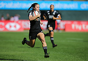 DUBAI, UNITED ARAB EMIRATES - Thursdays 30 November 2017, Michaela Blyde of New Zealand about to score the first try during HSBC Emirates Airline Dubai Rugby Sevens match between South Africa and New Zealand at The Sevens Stadium in Dubai.<br /> Photo by Roger Sedres/ImageSA