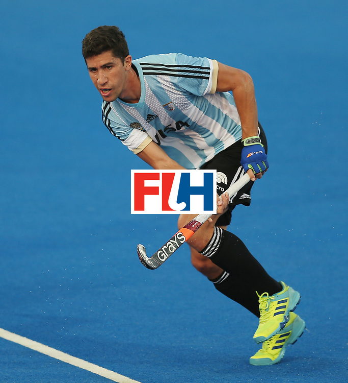 LONDON, ENGLAND - JUNE 19:  Ignacio Ortiz of Argentina during the Pool A match between Argentina and China on day five of Hero Hockey World League Semi-Final at Lee Valley Hockey and Tennis Centre on June 19, 2017 in London, England.  (Photo by Alex Morton/Getty Images)