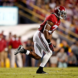 November 3, 2012; Baton Rouge, LA, USA;  Alabama Crimson Tide defensive back Robert Lester (37) against the LSU Tigers during a game at Tiger Stadium. Alabama defeated LSU 21-17. Mandatory Credit: Derick E. Hingle-US PRESSWIRE