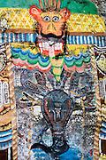 SRI LANKA. Roadside shrine on way to Jame's Taylor tea estate. Painted granite rock. 2006