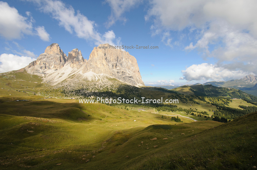 Sella pass between Gardena and Fassa valley, Italian Dolomites
