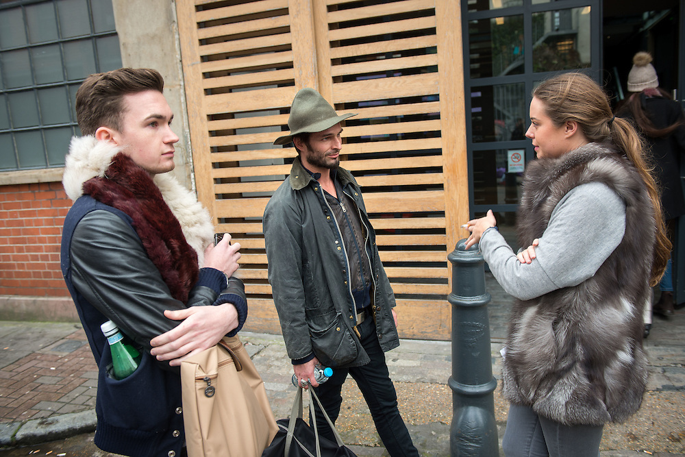 East London's trendy Shoreditch area.<br /> Photos shows students outside the Instituto Marangonim Fashion college.