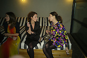 HARRIET QUICK AND Camille Bidault-Waddington, Frieze Cartier Dinner. Shoreditch House. London. 11 October 2007. -DO NOT ARCHIVE-© Copyright Photograph by Dafydd Jones. 248 Clapham Rd. London SW9 0PZ. Tel 0207 820 0771. www.dafjones.com.