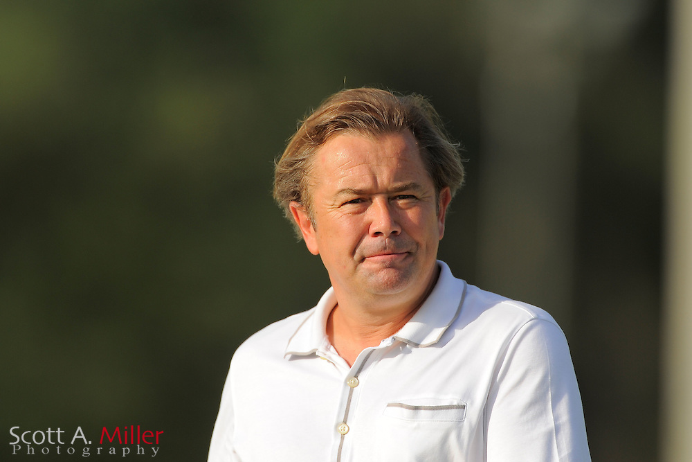 Orlando City Lions coach Adrian Heath during Orlando City U23's 2-1 win over the Heat in a PDL Southern Conference Championships playoff game at Trinity Catholic High Schooll on July 20, 2012 in Ocala, Florida. ..©2012 Scott A. Miller
