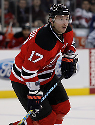 Feb 5, 2010; Newark, NJ, USA; New Jersey Devils left wing Ilya Kovalchuk (17) during the second period of their game against the Maple Leafs at the Prudential Center.