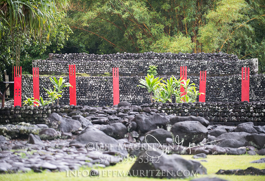 Marae Arahurahu is a restored archaeological site on the French Polynesian island of Tahiti.