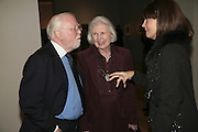 ichard and Lady  Attenborough and Gayle Hunnicutt, Hogarth private view and dinner. Tate Britain. London. 5 February 2007.  -DO NOT ARCHIVE-© Copyright Photograph by Dafydd Jones. 248 Clapham Rd. London SW9 0PZ. Tel 0207 820 0771. www.dafjones.com.