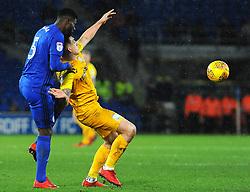 Bruno Ecuele Manga of Cardiff City competes with Jordan Hugill of Preston North End - Mandatory by-line: Nizaam Jones/JMP - 29/12/2017 -  FOOTBALL - Cardiff City Stadium - Cardiff, Wales -  Cardiff City v Preston North End - Sky Bet Championship