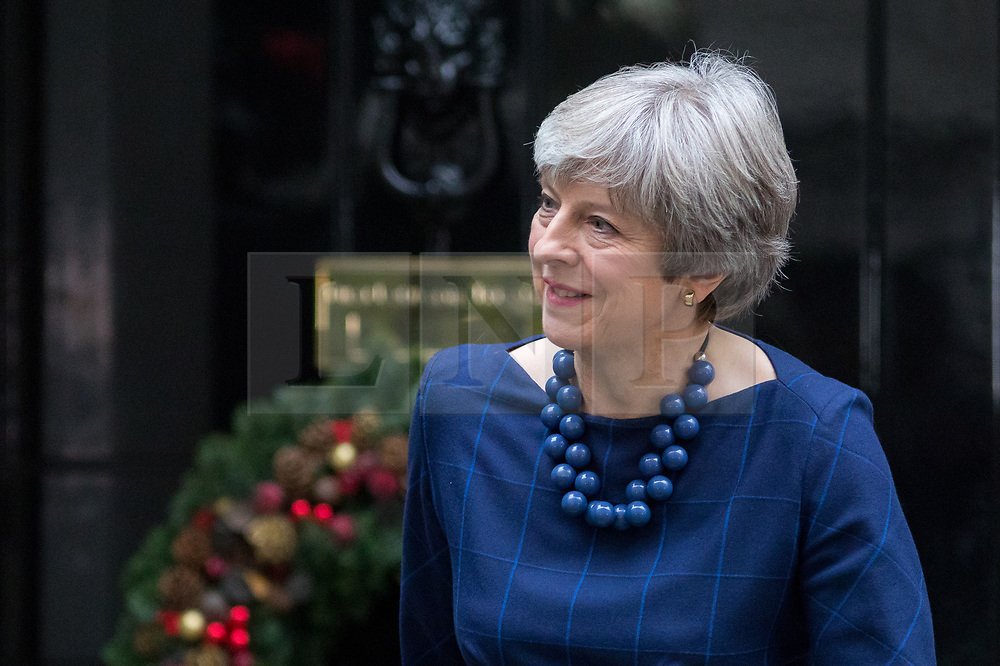 © Licensed to London News Pictures. 05/12/2017. London, UK. British Prime Minister Theresa May in Downing Street to meet Spanish Prime Minister Mariano Rajoy (not pictured). Photo credit : Tom Nicholson/LNP