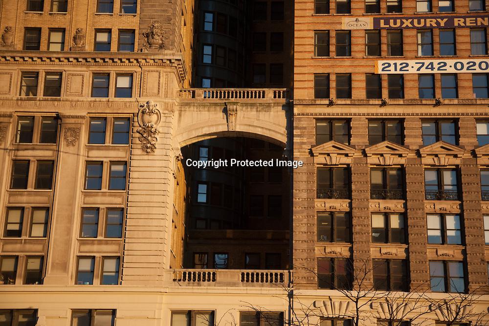 New York Old architecture in lower Manhattan