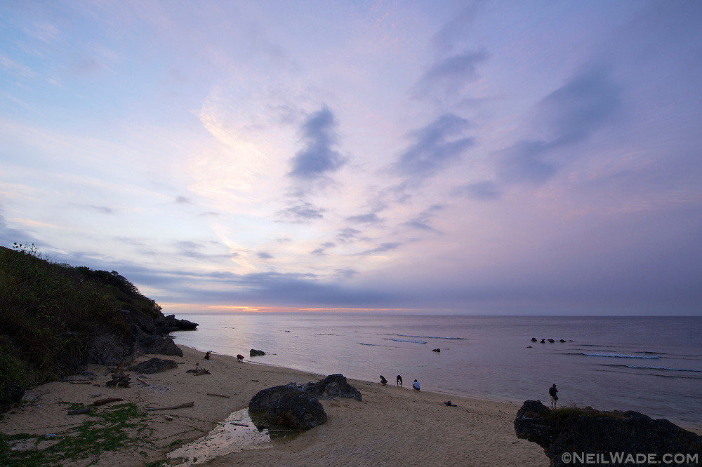 Sunset at Geban Bay on Little Liuqiu, Taiwan.  This beach is probably the nicest of the 3 or 4 small ones on the island.