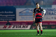 Dragons' Sam Beard<br /> <br /> Photographer Craig Thomas/Replay Images<br /> <br /> Guinness PRO14 Round 13 - Scarlets v Dragons - Friday 5th January 2018 - Parc Y Scarlets - Llanelli<br /> <br /> World Copyright &copy; Replay Images . All rights reserved. info@replayimages.co.uk - http://replayimages.co.uk