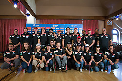 Alpine skiing team during Media day of Ski Association of Slovenia before new winter season 2014/15 on October 20, 2014 in Hisa Kulinarike Jezersek, Sora, Slovenia. (Photo by Matic Klansek Velej / Sportida)