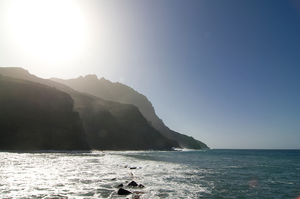 The black sand beach of Alojera,La Gomera,Canary Island,Spain