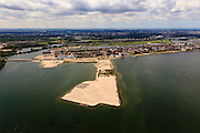 Nederland, Noord-Holland, Amsterdam, 14-06-2012; IJburg, Haveneiland en het nieuwste eiland in wording, de tweede fase (IJburg II). Diemen in de achtergrond..New constructed urban development, residential district IJburg. New isle in the making, IJburg II...luchtfoto (toeslag), aerial photo (additional fee required).foto/photo Siebe Swart