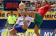 Footbal-FIFA Beach Soccer World Cup 2006 -  Semi Final- FRA xPOR-Marinho and Sciortino  -Rio de Janeiro- Brazil - 11/11/2006.<br />Mandatory Credit: FIFA/Ricardo Ayres