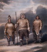 Eskimos Shulanina, Tulluuchiu, Tirishiu...Narrative of a second voyage in search of North-West Passage during years 1829-1833 by British explorer Sir John Ross, London 1835.