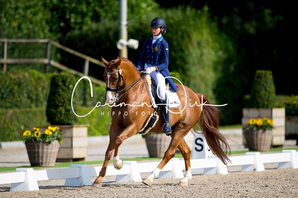Vangheluwe Camille, BEL, FBW Rainman<br /> Juniors<br /> European Championships Dressage <br /> Roosendaal 2017<br /> &copy; Hippo Foto - Leanjo de Koster<br /> 09/08/17