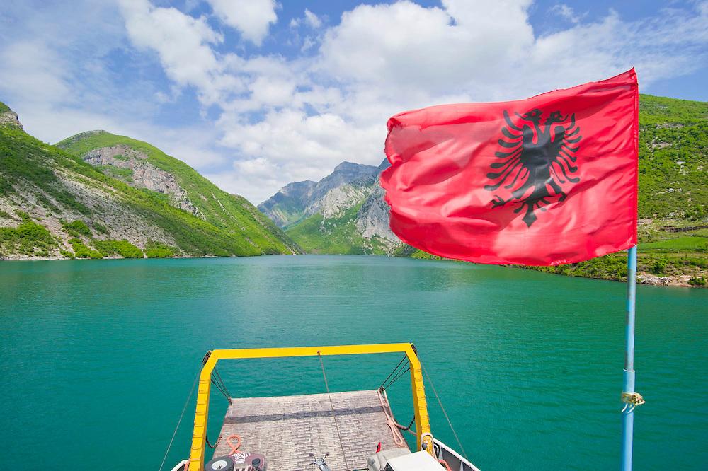 Künstlicher Stausee Koman, Albanien,Balkan*Artifical lake Komani, Albania,Balkan
