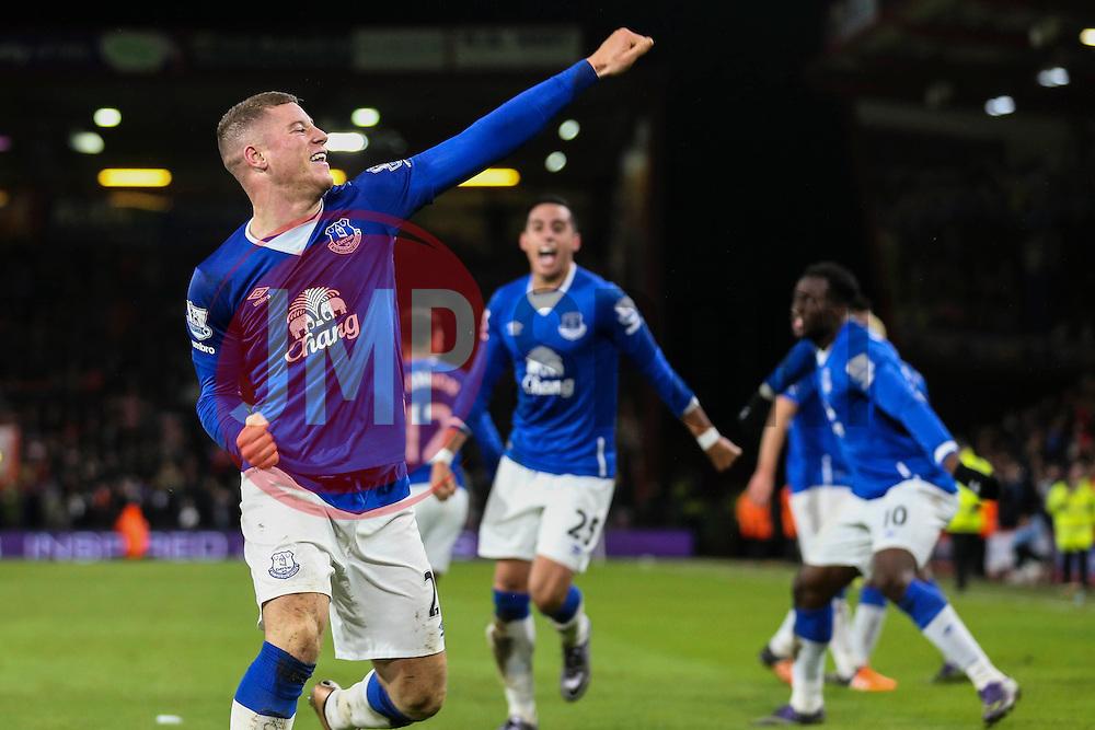 Goal, Ross Barkley of Everton scores, Bournemouth 2-3 Everton - Mandatory by-line: Jason Brown/JMP - Mobile 07966 386802 28/11/2015 - SPORT - FOOTBALL - Bournemouth, Vitality Stadium - AFC Bournemouth v Everton - Barclays Premier League