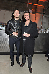 Left to right, ROBERT KONJIC and STEFANO CATELLI at a dinner hosted by Jonathan Saunders, Fantastic Man & Selfridges to celebrate Jonathan Saunders AW13 Menswear collection and London Collections held at the Old Selfridges Hotel,  Orchard Street, London on 8th January 2013.