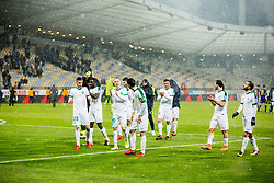 Players of NK Olimpija Ljubljana during football match between NK Maribor and NK Olimpija Ljubljana in 2nd leg match in Quaterfinal of Slovenian cup 2017/2018, on November 29, 2017 in Ljudski vrt, Maribor, Slovenia. Photo by Ziga Zupan / Sportida